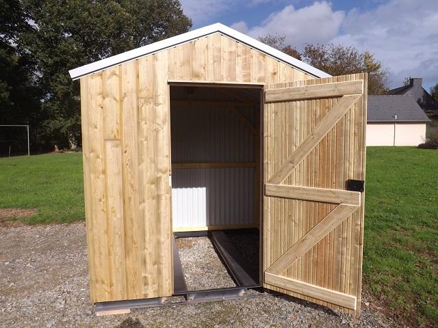 Abris de jardin en bois sur mesure ploermel dans le morbihan for Abri de jardin et garage